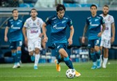 Zenit Striker Azmoun Scores against Tambov