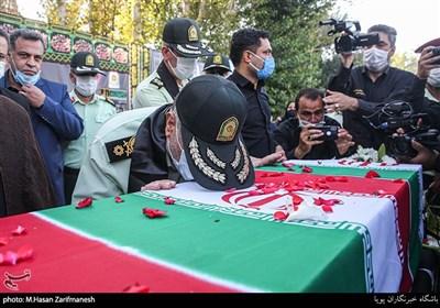 تشییع پیکر شهید پلیس پیشگیری تهران در ستاد فاتب + تصاویر