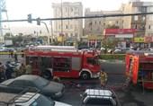 آتشسوزی در ساختمان مملو از سیلندرهای گاز در تهرانسر + فیلم و تصاویر