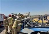 2 کشته در اتاقک ویران شده خودروی نیسان + تصاویر