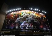 نقاشی حسن روح الامین دیوارنگاره عاشورایی میدان ولیعصر(عج) شد+عکس