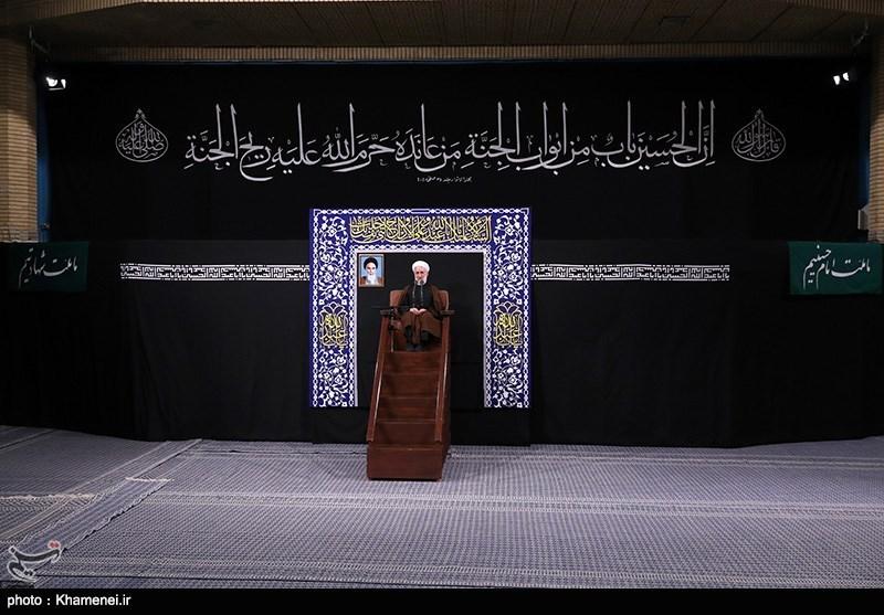 اولین شب مراسم عزاداری حضرت اباعبدالله الحسین (علیهالسلام) در حسینیه امام خمینی(ره)