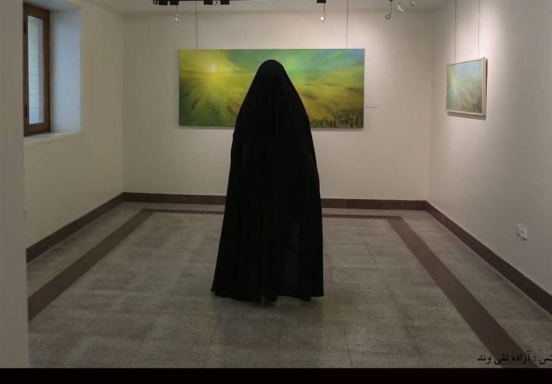 نقاشی , هنرهای تجسمی , عاشورا , ماه محرم , امام حسین (ع) , موکب تسنیم ,