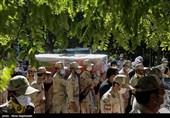 پیکر 4 شهید مرزبانی در مشهدمقدس تشییع شد + فیلم