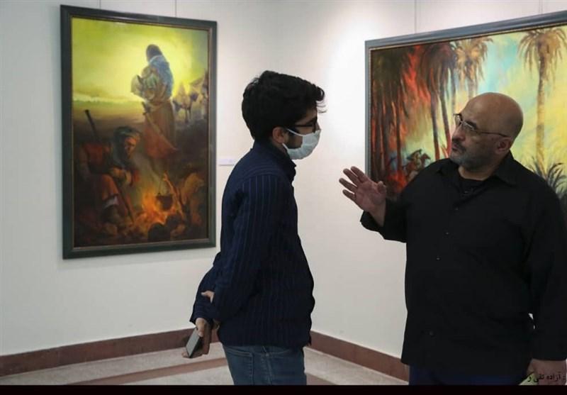 هنرهای تجسمی , نقاشی , سینما , موکب تسنیم , ماه محرم ,