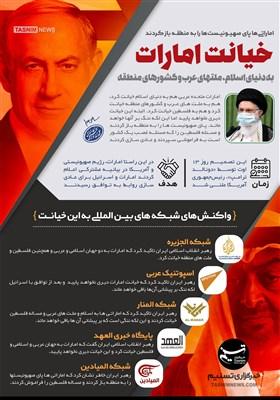 اینفوگرافیک/ خیانت امارات به دنیای اسلام، ملتهای عرب و کشورهای منطقه