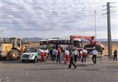 5 مجروح بر اثر واژگونی اتوبوس در محور همدان ـ کرمانشاه