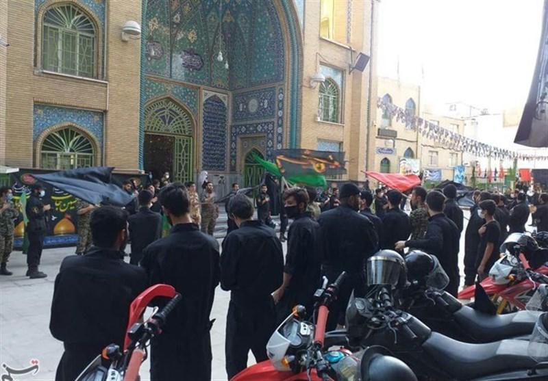 عزاداری یگان موتورسواران سپاه البرز در امامزاده حسن(ع) به روایت تصاویر