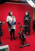 تلاش بانوی ایرانی برای ثبت رکورد در دوچرخه سالنی