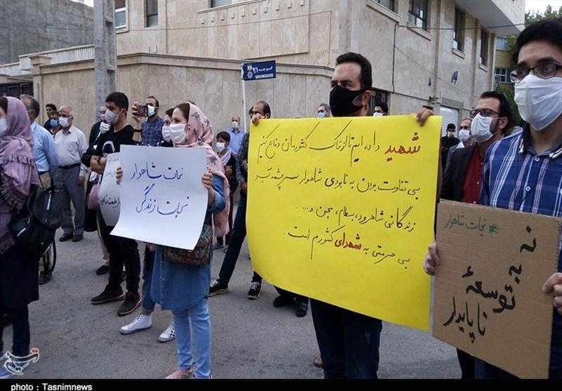سمنان| ادامه اعتراضات به فعالیت مجدد معدن بوکسیت تاش در شاهرود؛ معترضان «نجات شاهوار» را فریاد زدند+تصاویر