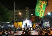 عزاداری دهه دوم محرم توسط هیئت فاطمیون در گلشهر مشهد+تصاویر