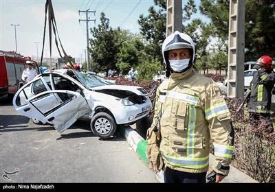 تصادف شدید در بزرگراه شهید سلیمانی - مشهد