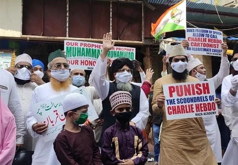 اعتراض مسلمانان هند به توهین نشریه فرانسوی به پیامبر گرامی اسلام (ص)