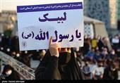 فریاد اعتراض نمازگزاران جزایر خلیج فارس علیه توهین کنندگان به پیامبر اسلام