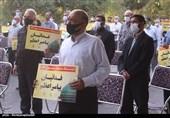 طلاب و روحانیان بسیجی استان سمنان اظهارات سخیف رئیسجمهور فرانسه را محکوم کردند