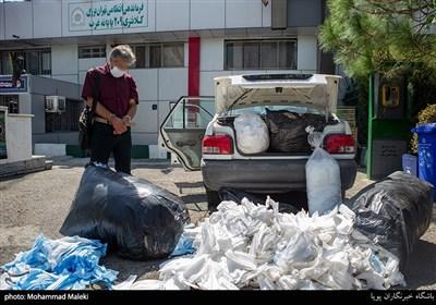 کشف ۱۰۰ هزار ماسک غیربهداشتیدر پایانه غرب تهران + تصاویر