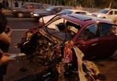 پرتاب موتور گیربکس برلیانس پس از تصادف شدید با گاردیل + تصاویر