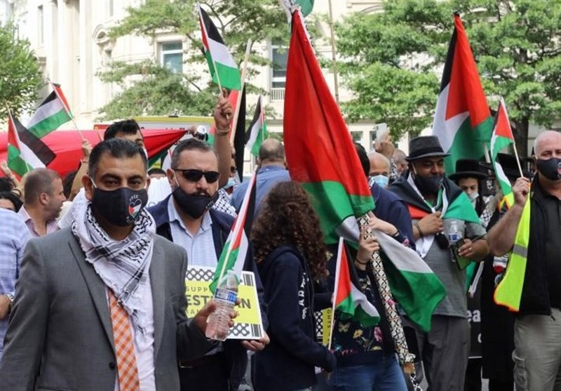 DC Protesters Condemn UAE-Bahrain-Israel Deal (+Video) - World news - Tasnim News Agency