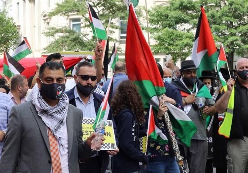 DC Protesters Condemn UAE-Bahrain-Israel Deal (+Video) - World news - Tasnim News Agency