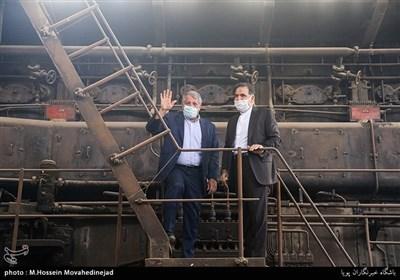 بازدید محسن هاشمی رئیس شورای شهر تهران از کارخانه سیمان ری
