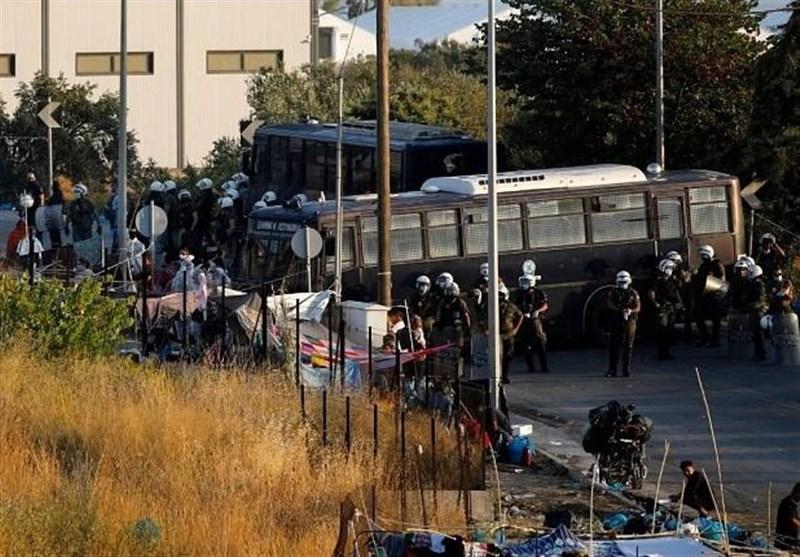 پناهجويان،اردوگاه،انتقال،كمپ،يونان،ساكنان،عمليات،پليس،خبرگزا ...