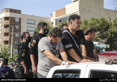 دستگیری اراذل و اوباش محله تهران پارس