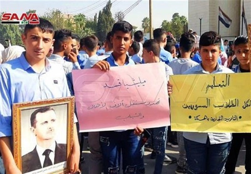 Syrian Students, Teachers Protest in Hasakah as Militants Occupy Schools (+Video)