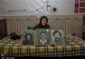 زهرا مزرعه و عکسایی از برادر ، پسر و همسر که هر سه در جنگ شهید شده اند .