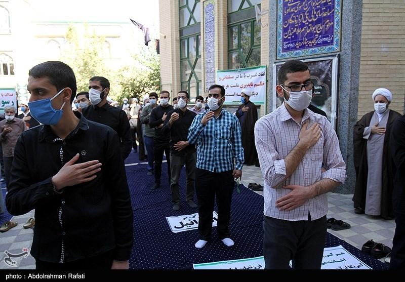 تجمع طلاب حوزه علمیه همدان در محکومیت سازش امارات و بحرین با اسرائیل