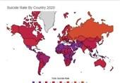 """کشورهای اروپای شرقی در صدر """"خودکشی"""" جهان و سوریه کمترین + جدول"""