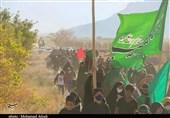 حرکت نمادین ورود کاروان اسرای کربلا به شام در ده زیار کرمان به روایت تصویر