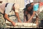 برپایی اردوی جهادی در مناطق سیل زده جاسک از دریچه دوربین تسنیم