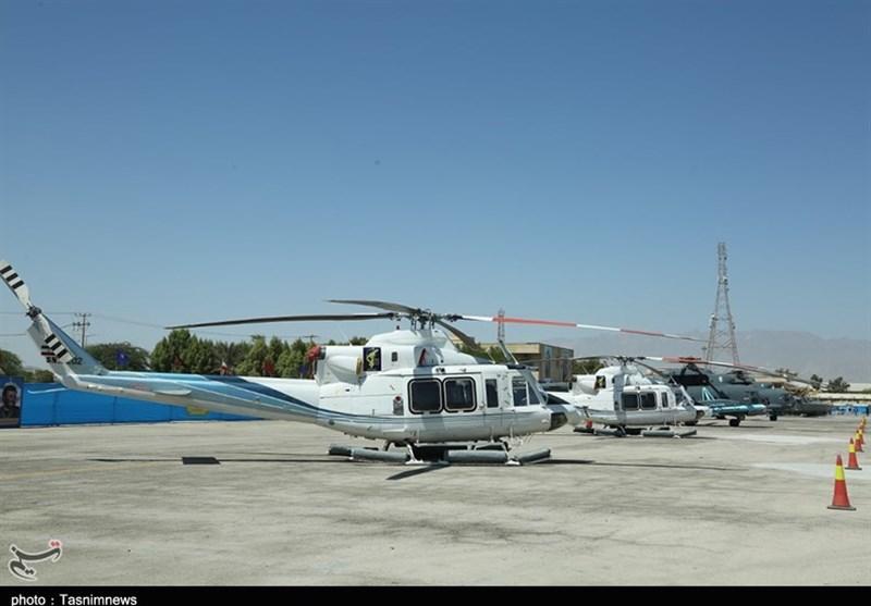 تصاویر الحاق انبوه پهپاد و بالگرد به نیروی دریایی سپاه/ تحویل بالگردهای 412 به ندسا