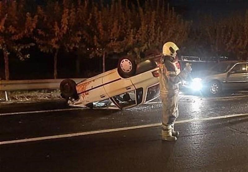 واژگونی خودرو در زاهدان 9 کشته و زخمی در پی داشت/ مجروحان با بالگرد منتقل شدند