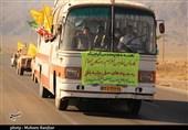 اعزام نمادین رزمندگان اسلام به جبهه ها در ده زیار استان کرمان به روایت تصویر