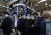بازدید رئیس قوه قضائیه از کارخانه نساجی در اردبیل + تصاویر