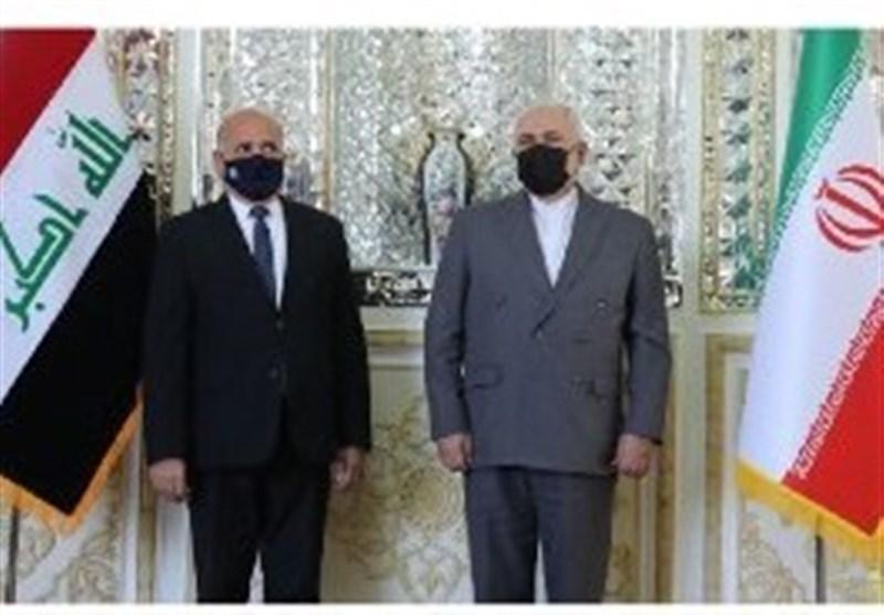 خلال استقبال نظیره العراقی..ظریف: ندین العدوان الأمریکی على الحدودیة العراقیة السوریة