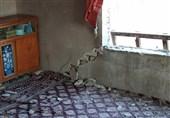 خسارتهای زلزله 5.2 ریشتری در مناطق محروم مراوهتپه به روایت تصویر