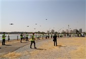 جشنواره عکاسی هوایی بر فراز دریاچه شهدای خلیج فارس برگزار شد+ عکس