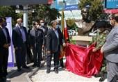 """سردیس شهید """"فرامرز عباسی"""" در مشهد مقدس رونمایی شد"""