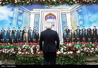 حضور محمد جواد ظریف وزیر امور خارجه در مراسم بزرگداشت شهدای وزارت امور خارجه