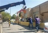 اختصاصی| بلوکگذاری شهرداری اراک جلوی اداره برق برای تسویه حساب سازمانی+تصاویر