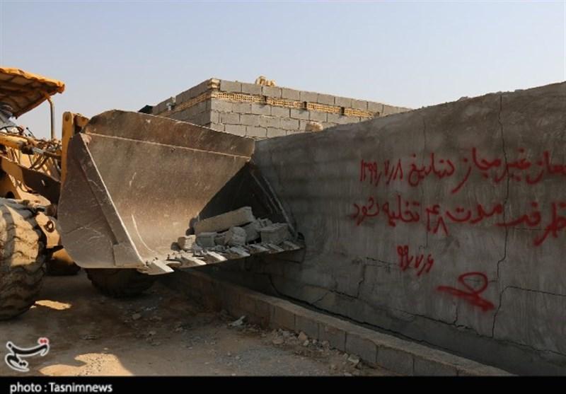 48 بنای غیرمجاز در اراضی کشاورزی با حکم قضایی در دزفول قلع و قمع شدند +تصاویر