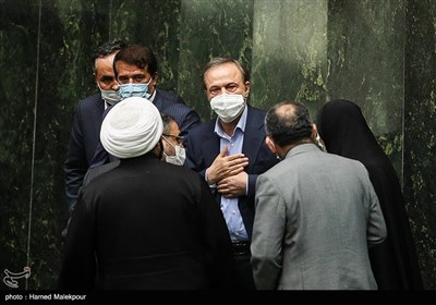 علیرضا رزم حسینی وزیر پیشنهادی صنعت، معدن و تجارت در جلسه علنی مجلس شورای اسلامی