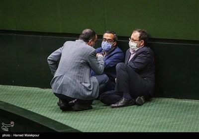 سیدنظامالدین موسوی و جواد کریمی قدوسی در جلسه علنی مجلس شورای اسلامی
