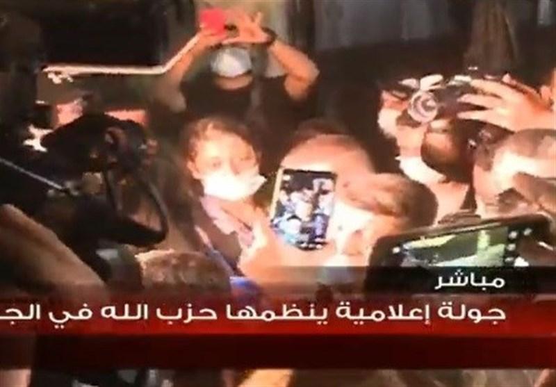 بازدید رسانهای از منطقه «الاوزعی» بیروت برای اثبات دروغگویی نتانیاهو درباره وجود کارخانه موشکی حزبالله