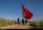 اصفهان  خادمیاران کانون شهدای آستان قدس رضوی یاد و خاطرات پیادهروی اربعین را زنده کردند + تصاویر