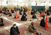 نماز ظهر شهادت حضرت رضا(ع) در حرم رضوی اقامه شد+تصاویر