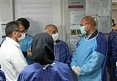 حضور سرزده قالیباف در بخش ICU کرونای بیمارستان امام خمینی(ره) تهران