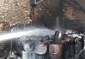 آتشسوزی و انفجار در سوله 400 متری + تصاویر